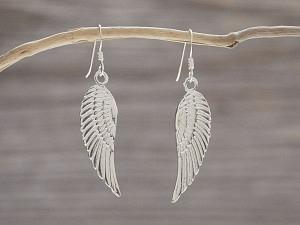 Ohrhänger Silber einseitiger Flügel