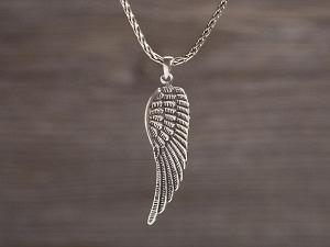 Anhänger Silber Engelflügel gross