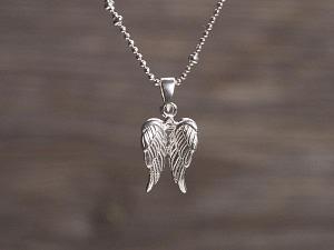Anhänger Silber Engelflügel klein