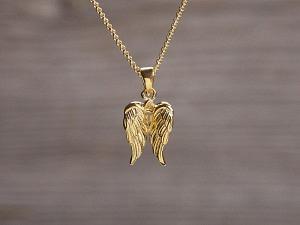 Anhänger vergoldet Engelflügel klein
