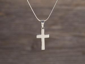 Anhänger Silber Kreuz blank