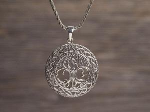 Anhänger Silber keltischer Lebensbaum