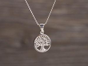 Anhänger Silber Lebensbaum klein