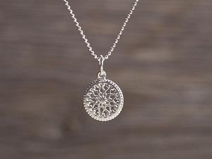 Anhänger Silber Mandala Stern