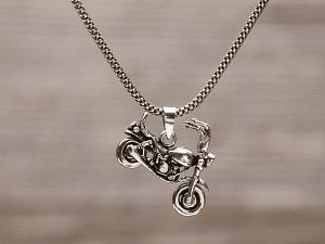 Anhänger Silber Motorrad