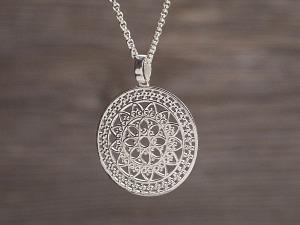 Anhänger Silber Ornament