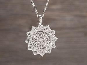 Anhänger Silber Ornament Stern
