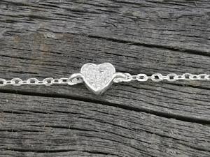 Armband Silber Herz Zirkonia