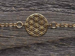 Armkette Silber vergoldet Blume des Lebens