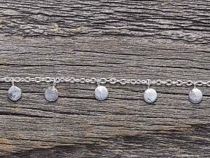 Armkette Silber Plättchen hängend