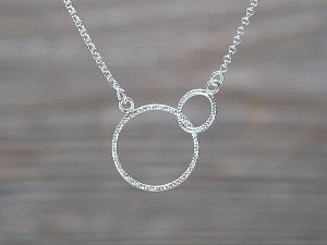 Choker Silber 2 Ringe