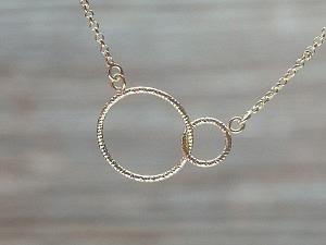 Choker Silber vergoldet 2 Ringe