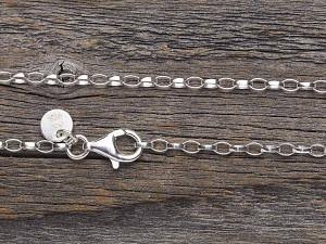 Halskette Silber oval breit lange Längen