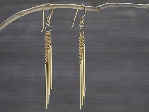 Ohrhänger vergoldet 5 Stäbli