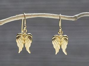 Ohrhänger vergoldet Engel Flügel