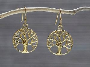 Ohrhänger vergoldet Lebensbaum