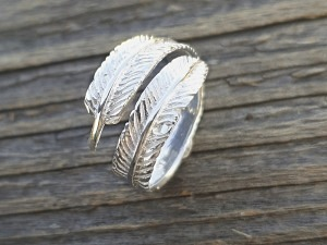 Silber Ring Feder