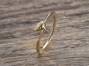 Silber Ring vergoldet feines Blatt