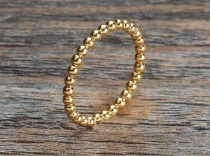 Silber Ring vergoldet Kügeli