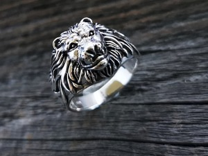 Silber Ring Löwenkopf