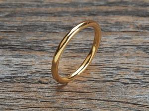 Silber Ring vergoldet blank fein