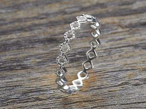 Silber Ring Raute