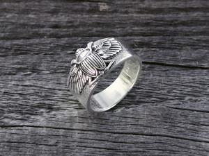 Silber Ring Skarabäus