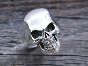 Silber Ring Totenkopf blank