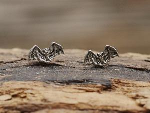 Silber Ohrstecker Fledermaus