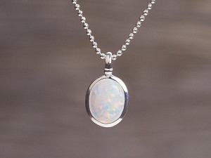 Anhänger Silber Opal oval