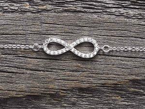 Armkette Silber Infinity Zirkonia