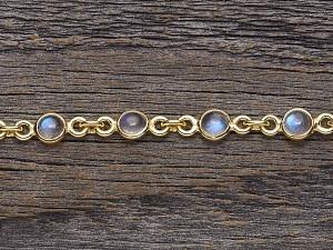 Armkette Silber vergoldet mit kleinen Steinen