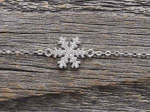 Armkette Silber Schneeflocke Zirkonia