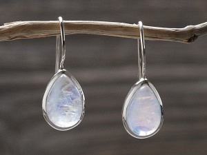 Silber Ohrhänger Tropfen fix