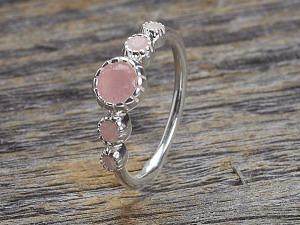 Silber Ring mit fünf Steine
