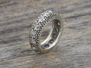 Silber Ring Memory Zirkonia