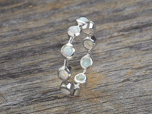 Silber Memory Ring mit Opale