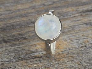Silber Ring Stein rund