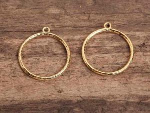 Ohrring Unterteil vergoldet Zubehör